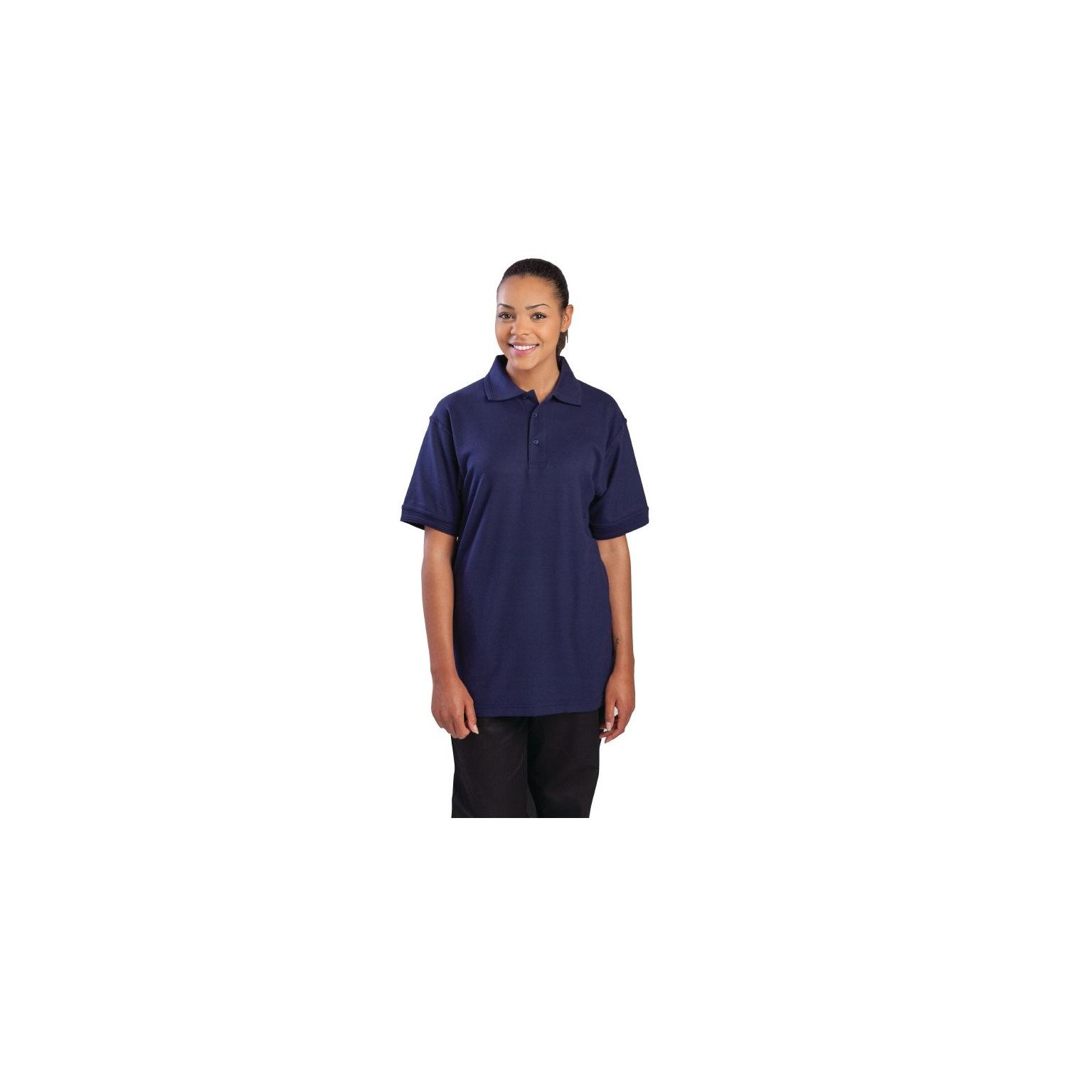 Polo 65% polyester & 35% coton bleu marine XL EQUIPEMENT DIRECT Nisbets Vêtements
