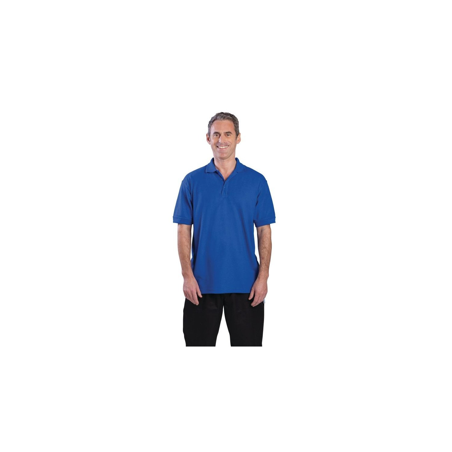 Polo 65% polyester & 35% coton bleu roi L EQUIPEMENT DIRECT Nisbets Vêtements