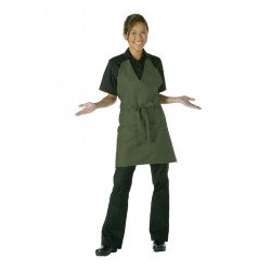"Tablier ""Smoking"" Unisexe Vert Olive Col V UNIFORM WORKS Tabliers"