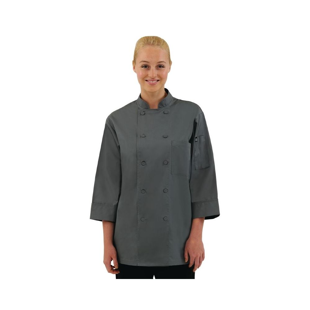 Veste Chef grise Chef Works COLOUR BY CHEF WORKS 4b441914c937