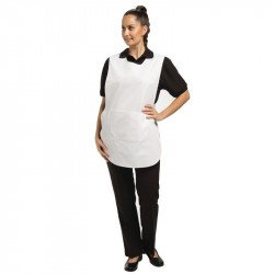 Tablier chasuble avec poche Blanc - Taille L WHITES CHEFS APPAREL Tabliers