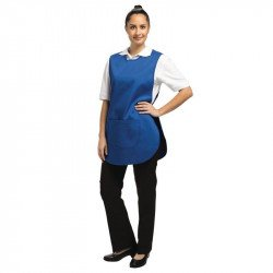 Tablier chasuble avec poche Bleu roi- Taille S WHITES CHEFS APPAREL Tabliers