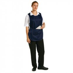 Tablier chasuble avec poche Bleu marine - Taille S WHITES CHEFS APPAREL Tabliers