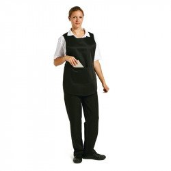 Tablier chasuble avec poche Noir - Taille S WHITES CHEFS APPAREL Tabliers