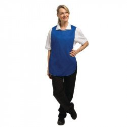 Tablier chasuble Bleu roi - Taille S WHITES CHEFS APPAREL Tabliers