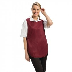 Tablier chasuble Bordeaux - Taille S WHITES CHEFS APPAREL Tabliers