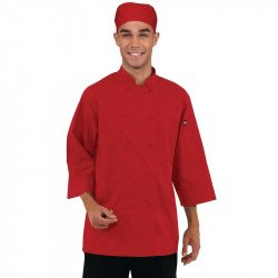 Veste manches 3/4 Chef Works rouge COLOUR BY CHEF WORKS Vestes et chemises