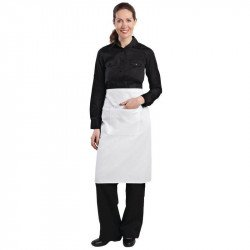 Tablier bistro blanc- 1000x700mm EQUIPEMENT DIRECT Tabliers