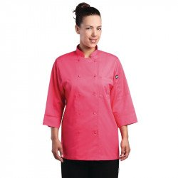 Veste manches 3/4  Chef Works rose