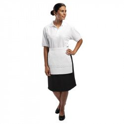 Tablier dame blanc carré avec poche WHITES CHEFS APPAREL Tabliers