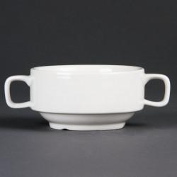 Bol à potage 2 anses porcelaine (6 pces)
