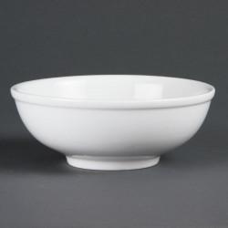 Bol à nouilles chinoise porcelaine blanche (6 pces)
