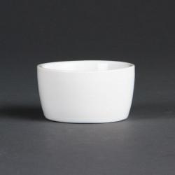 Lot de 12 pots à beurre Ø 62 mm - porcelaine