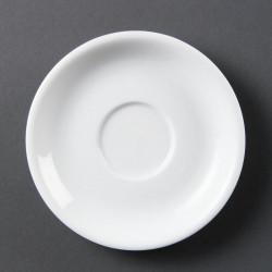 Lot de 12 soucoupes pour tasses à cappuccino - porcelaine