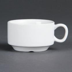 Lot de 12 tasses à espresso Ø 70 mm - empilable - porcelaine