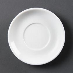 Lot de 12 soucoupes pour tasses à espresso Ø 80 mm - empilable - porcelaine OLYMPIA Collection Whiteware