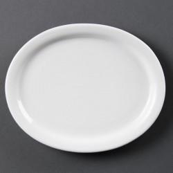 Lot de 6 Whiteware assiettes/plateaux ovale 20cm