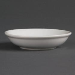 Lot de 12 coupelles Ø 100 mm à sauce soja - porcelaine OLYMPIA Collection Whiteware