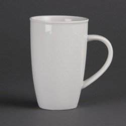 Lot de 6 tasses haute 400 ml - H 130 mm - porcelaine OLYMPIA Collection Whiteware