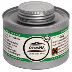 Olympia Chafing combustible liquide 6 heures (colis de 12) HAZ OLYMPIA Chafing Dish