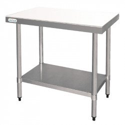 Table de découpe L900 x P600 mm inox VOGUE Tables inox