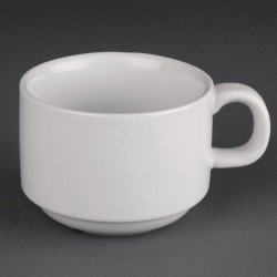 Lot de 24 tasses empilables 200ml Hotelware porcelaine