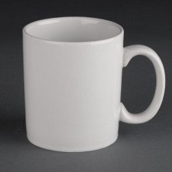 Lot de 12 tasses mugs 280ml Hotelware porcelaine