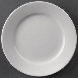 Lot de 12 assiettes Ø202mm à bord large Hotelware porcelaine