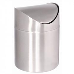 Poubelle de Table Inox Ouverture à Bascule - Diamètre:120mm, H168mm
