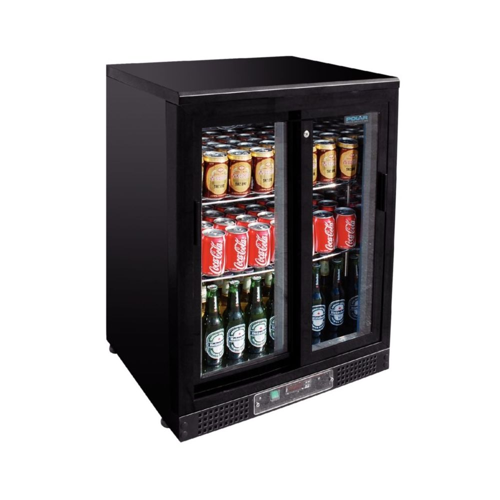 Arri re bar porte coulissante 140 bouteilles polar - Porte bouteille doseur bar ...