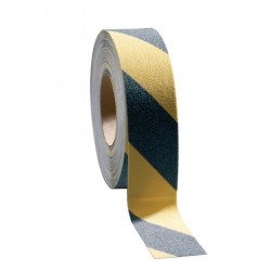 Ruban adhésif anti-dérapant noir/jaune - 50 mm x 18,3 m COBA Nisbets Vêtements