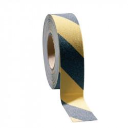 Ruban adhésif anti-dérapant noir/jaune - 50 mm x 18,3 m