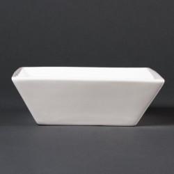 Bol à céréales carré Lumina Fine China - 140mm (Boîte de 6)