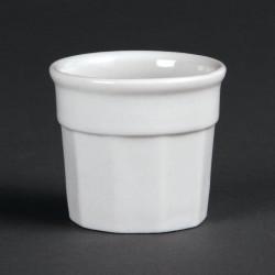 Lot de 12 pots à sauce 50 x 45 mm - porcelaine OLYMPIA Collection Whiteware