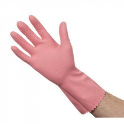 Gants roses tout usage (Paire) - Taille S 6,5-7