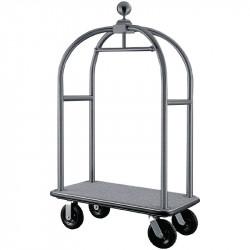 Chariot à bagages Bolero en acier inoxydable brossé