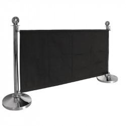 Barrière en toile Bolero noire BOLERO Les cordons d'accueil Bolero