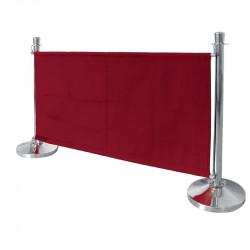 Bannière rouge avec fixations en acier inoxydable Bolero BOLERO gastro