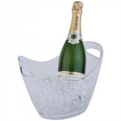 Seau à vin / champagne en acrylique transparent 210 x 270 x 200 mm
