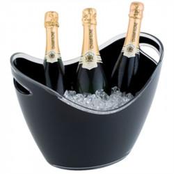 Seau à vin/champagne 3 bouteilles acrylique noir