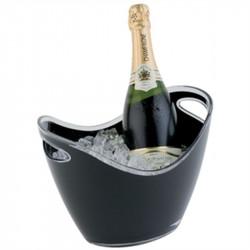 Seau à vin/champagne 2 bouteilles acrylique noir