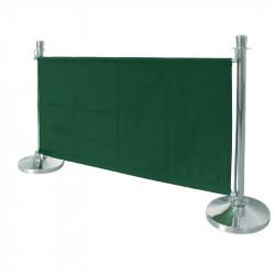 Bannière verte avec fixations en acier inoxydable Bolero BOLERO gastro