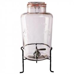 Distributeur d'eau 8,5L rétro en verre avec socle OLYMPIA Carafes et pichets
