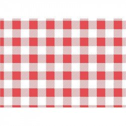 Red Gingham Greaseproof Paper 250x250mm (pack of 200)  Nisbets Vêtements