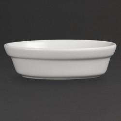 Lot de 6 plats à gratin L 145 x P 104 mm - ovales - porcelaine OLYMPIA Collection Whiteware