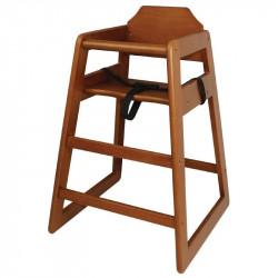 Chaise haute en bois foncé Bolero