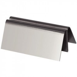 Porte-menu triangulaire inox
