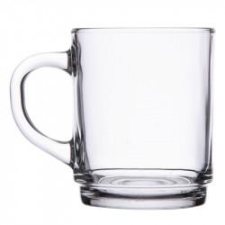 36 x Tasse à thé empilable en verre trempé 25 cl