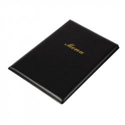 Carte menu A5 noir plastique EQUIPEMENT DIRECT Cartes et menus