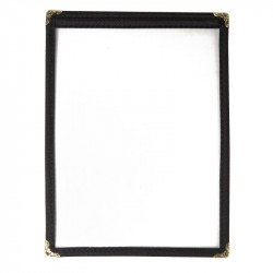 Porte-menu A5 noir 2 pages EQUIPEMENT DIRECT Cartes et menus
